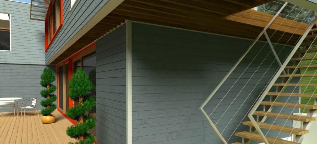 Отделка фасада фиброцементным сайдингом от Сотдел